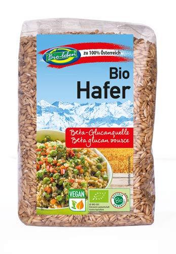 Bio Hafer 3 kg 100% Nackthafer aus Österreich, Öko, Rohkost mit Keim, Eiweißquelle, Protein, ballaststoffreich 6x500g