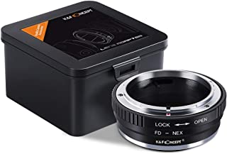 K&F Concept Lens Mount Adapter for Canon FD & FL Mount Lens to Sony Alpha NEX E-Mount Camera Body, Fits for Sony Alpha A7,...