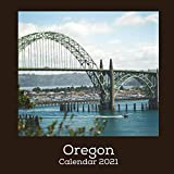 Oregon Calendar 2021: January 2021 - December 2021 Square Photo Book Monthly Planner Calendar Gift | Oregon Gift Idea For Men & Women | Secret Santa Christmas Stocking Filler Present
