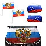 Sonia Originelli Fan-Paket-10-XL Auto WM Länder Fußball Flaggen Motorhaube Farbe Russland