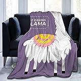 Romance-and-Beauty No Drama Manta de Lana de Franela con Estampado de Llama Manta de Felpa de Terciopelo Ultra Suave de 50'x40'