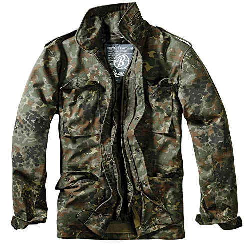 Brandit Herren M-65 Feldjacke Classic Jacke, Mehrfarbig (Flecktarn 14), Large