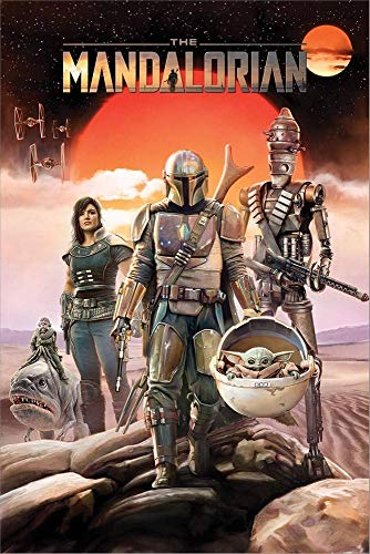 Pyramid Star Wars The Mandalorian - Group Unisex Poster Multicolor Papier 61 x 91,5 cm Fan-Merch, TV-Serien