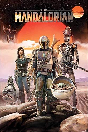 Pyramid Star Wars The Mandalorian - Group Unisex Poster Multicolor Papier 61 x 91,5 cm Fan-Merch, TV-Serien