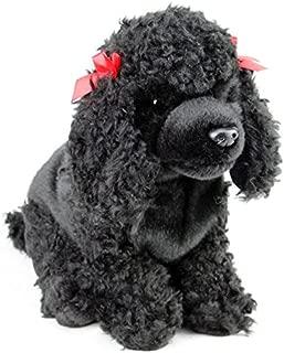 Faithful Friends Poodle Black Dog Stuffed Animal 12