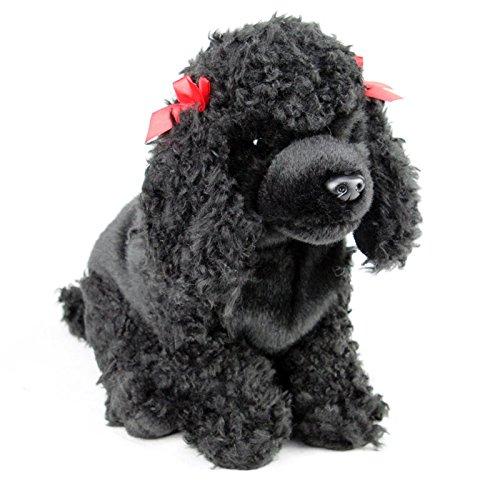 Faithful Friends Poodle Black Dog Stuffed Animal 12'/30cm Plush Toy Black
