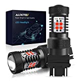 AUXITO Brilliant Red 3056 3057 3156 3157 14-SMD 3030 Chipsets LED Bulbs with Projector for Brake Light Tail Light Turn Signal Blinkers, Pack of 2