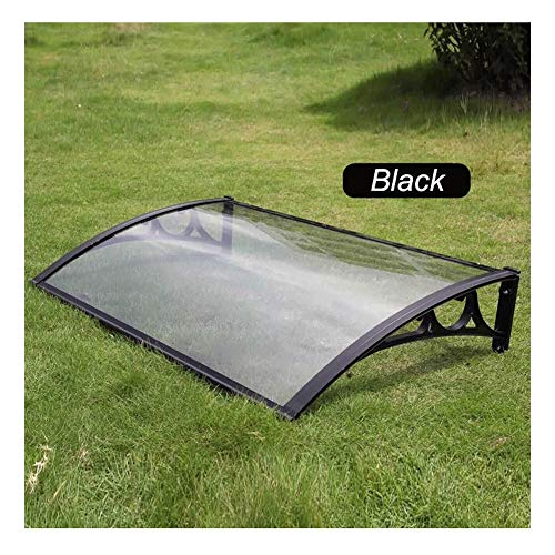 Canopy Door Awning Shelter Outdoor Cover Rain Shelter Garden Patio Porch Low Weight Easy To Assemble (Color : Black, Size : 80×100cm)