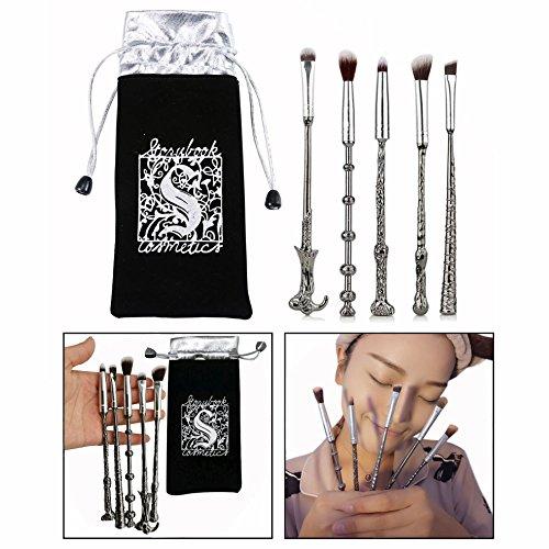 OFKPO 5 Stück Make up Pinsel Set mit Metallgriff,Lidschatten Pinsel Augenbrauen Pinsel
