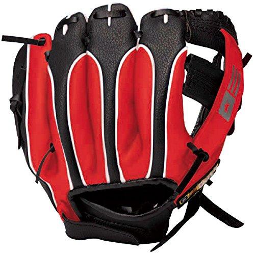 子ども用(幼児~小学校低学年向け) 野球グローブ ボール1個付き ガッツリーグ(GUTS LEAGUE) 右投げ用(左手着用) 9インチ 黒×赤 GLBM-5765