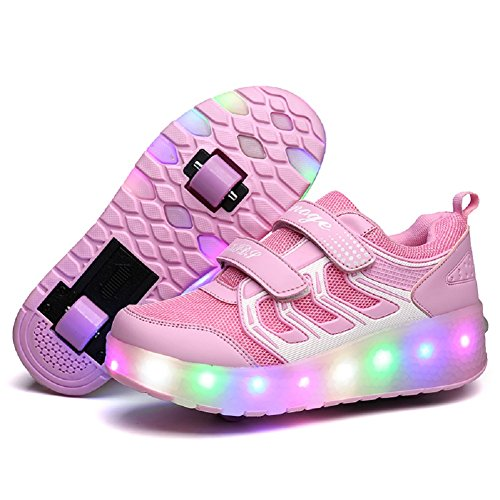 Girls Light Up Roller Shoes