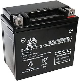 BM バイク用 バッテリー 液入り 充電済み BTX5L-BS ( YTX5L-BS /CTX5L-BS / FTX5L-BS / GTX5L-BS / KTX5L-BS / STX5L-BS 互換 )