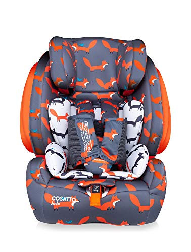 Cosatto Judo Child Car Seat - Group 1/2/3, 9-36 kg, 9 months-12 years, ISOFIX, Forward Facing, Removable Harness, Reclines (Mister Fox)