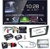 Kenwood DMX-7017BTS Bluetooth Carplay Android Auto USB MP3 Autoradio Einbauset für Audi A4 B7 Seat Exeo