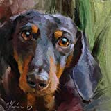Dachshund pet dog animal - Paint by Numbers Kits - DIY Canvas Painting for Adults Beginner - 16 x 20 inch (Sin marco)