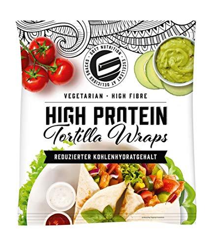Got7 Nutrition High Protein Tortilla Wraps – Vegetarisch – High Fibre – reduzierter Kohlenhydratgehalt (6 Wraps) 280g