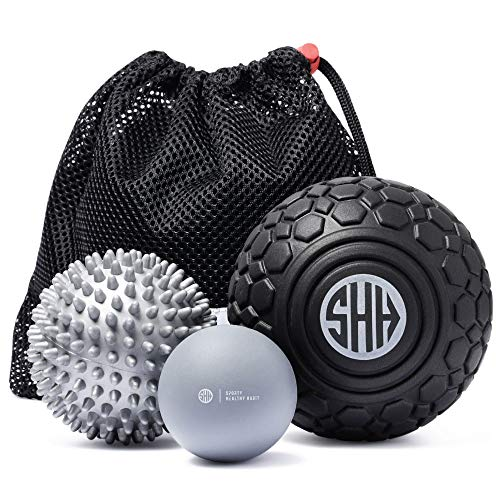 Massage Balls Set for Deep Tissue, Trigger Point Therapy, Myofascial Release, Mobility, Muscle Recovery, Foot Massager and Plantar Fasciitis, Inc EBOOK
