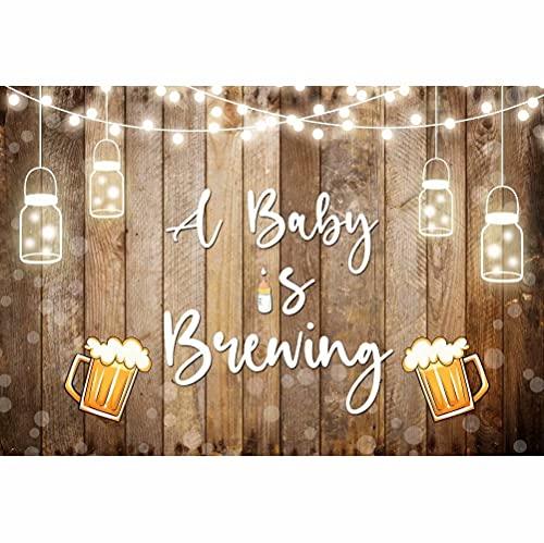 Leowefowa 2x1,5m Vinilo Baby Shower Telón de FondoUn bebé está gestando Bebé Telón de Fondo de Madera Bokeh Fondos para Fotografia Fiesta Bebé Infantil Recién Nacido Photo Studio Props Booth