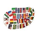 FIFA Soccer World Cup Brasil 2014 SET of 32 STRING LARGE COUNTRY FLAGS/サッカー/ワールドカップ/ブラジル/フラッグ/インテリア/並行輸入品