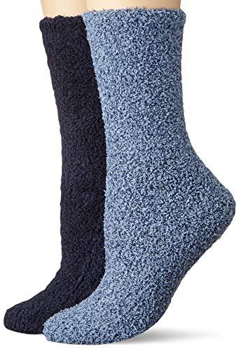 Camano Damen 3482 Socken, Blau (Dark Blue 5900), (Herstellergröße: 35/38) (2er Pack)