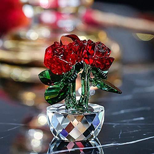 GHFT Figur Skulptur Ornament Figur Kristallblume Charakter Bouquet Skulptur Autozubehör Dekoration Hochzeit-D