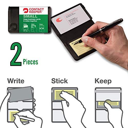 Visitenkartenhalter Und Notizzettel Für 2 Kontakte 5 7 X 10 2 Cm