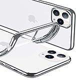 ESR Klar Silikon Entwickelt für iPhone 11 Pro Hülle - Dünne klare weiche TPU Schutzhülle - Flexible Handyhülle mit Mikrodot-Muster & Bildschirm-Kameraschutz für iPhone 11 Pro(2019)-Silber Rahmen