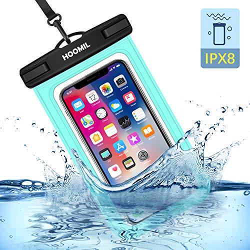 HOOMIL wasserdichte Handyhülle, Universal Wasserfeste Handytasche IPX8 Unterwasser Handy Hülle für Huawei P40 Pro/P Smart 2020/P30 Lite, Grün