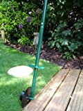 Great Ideas Long Handled Lawn Edger - Roller Cutter Tool With Wheel For