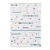 dot on Jahreskalender 2021 mit bunten Klebepunkten - Wandplaner Designkalender DIY Kalender Wandkalender Kalender selbst gestalten Kalender 21 Hochformat