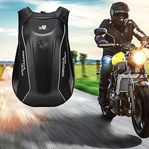Motorradrucksack Wasserfest Herren Hartschale Groß Motorrad Rucksack 30L Carbon Reiten Laptoptasche für Camping Fahrrad Aufbewahrungstasche