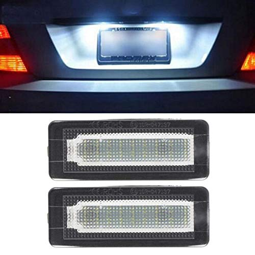 Luces de matrícula de Coche 2X 18 SMD LED Número de Placa de la Placa Light Light Error Compatible Gratis con Benz Smart Fortwo Coupe Convertible 450 451 W450 W453 Caliente Impermeable