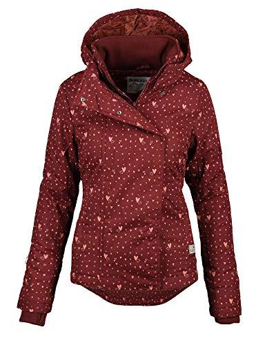 Sublevel Damen Herbst Übergangsjacke Winter warme Jacke Winterjacke Outdoor B167 (Gr.L/Gr.42, Bordeaux-Herz)