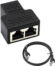 Homyl Adaptador De Divisor RJ45 1 A 2 Maneiras Porta Fêmea Dupla CAT 6 LAN Ethernet Cable