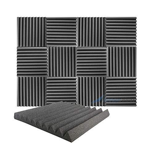 Arrowzoom 12 Piezas Panels Acustico Absorcion Sonido Wedge Cuna...