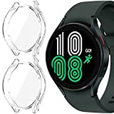 KPYJA for Samsung Galaxy Watch 4 Screen Protector 44mm, All-Around TPU Anti-Scratch Flexible Case Soft Protective Bumper Cover for Galaxy Watch 4 Smartwatch (Clear+Clear)