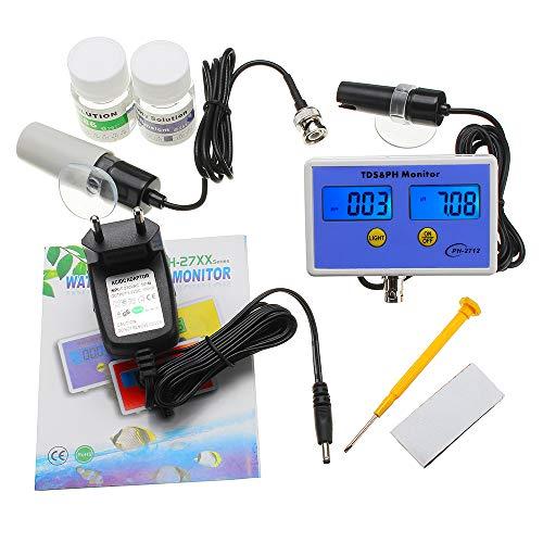 HELEISH WS-pH2712 Monitor de pH/TDS en línea Rango de PH 0.00~14.00 Rango de TDS 0.00~1999ppm Medidor de PH Herramientas de accesorios