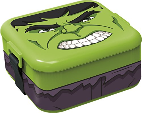 Stor Character BENTO Lunch Box Hulk Bolsa para el Almuerzo, Juventud Unisex, Multicolor (Multicolor), Talla Única