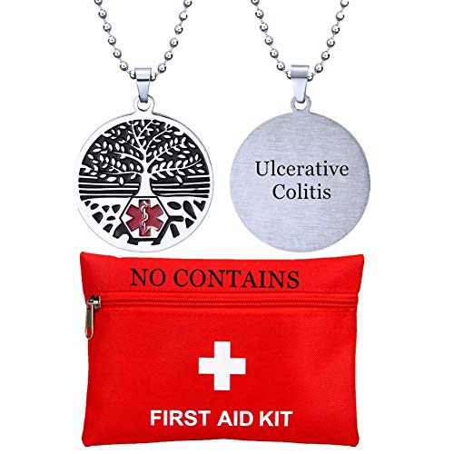 ForeverWill Personalized Tree of Life Medical Alert Necklace Custom ID Name ICE Disease Awareness Medal Pendant Stainless Steel Emergency Alarm Jewelry for Women Men Children