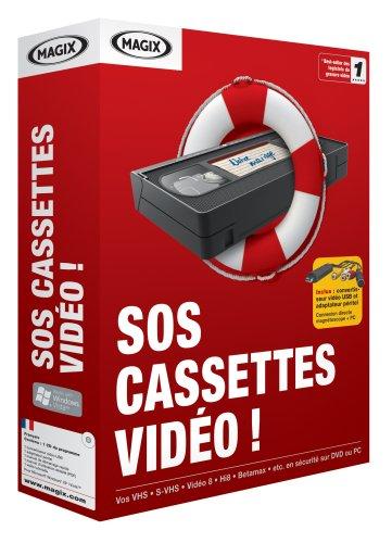 Magix Sos Cassettes Video - Avec convertisseur vidéo vers USB et adaptateur SCART (1 poste, FR)