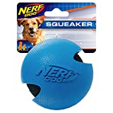 Nerf Dog Classic Rubber Wrapped Tennis Ball Dog Toy, Lightweight, Durable and Water Resistant, 3 Inches, For Small/Medium/Large Breeds, Single Unit, Blue