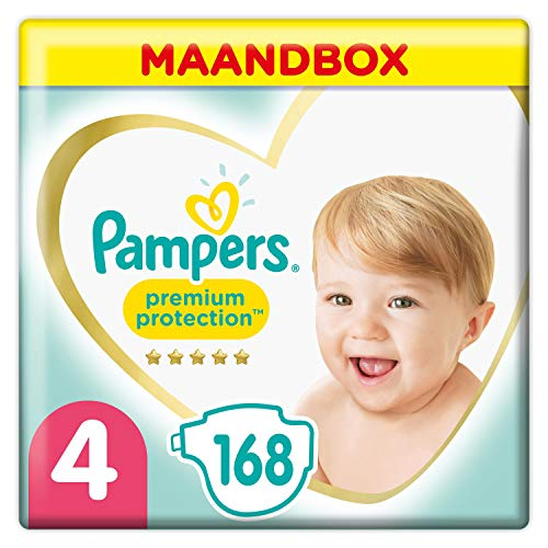 Pampers Premium Protection Taglia 4 (9-14kg), 168 Pannolini, Pampers 'Softest Comfort, consigliati da British Skin Foundation