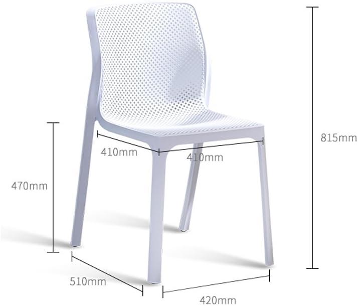 Chaise de salle à manger SLL Loisirs Creuse créative Minimaliste Moderne Moderne (Color : A) C