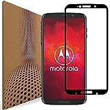 VLP Compatible con Motorola Moto Z3 Play Vidrio Protector de Pantalla, Cubrir toda la Anti Arañar & Huella Digital Cristal Templado Película Protectora para Motorola Moto Z3 Play (Black)