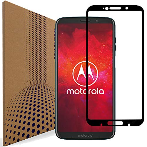 VLP Kompatibel mit Motorola Moto Z3 Play Panzerglas Schutzfolie, 2.5D Kanten Anti Kratzer Abdeckung Voll Display Panzerglasfolie Schutzfolien für Motorola Moto Z3 Play (Black)
