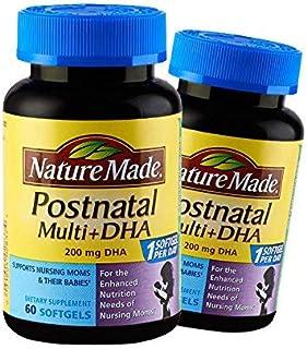 Nature Made 莱萃美 孕妇产后多种综合维生素含DHA?#31471;?60粒 *2瓶
