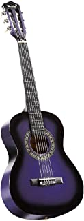 Melodic 34'' Kids Acoustic Guitar 6 Strings Strap Picks Tuner with Carry Bag Chlidren Gift Purple
