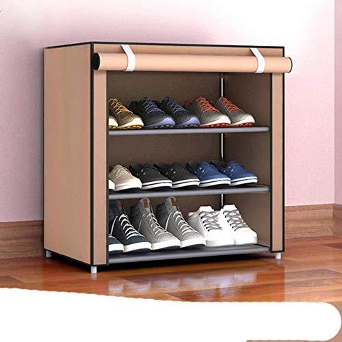 Estante de zapatos multicapa desmontable a prueba de polvo tela no tejida zapato gabinete zapatos organizador zapatero y almacenamiento casa re-30X60X55CM café, China