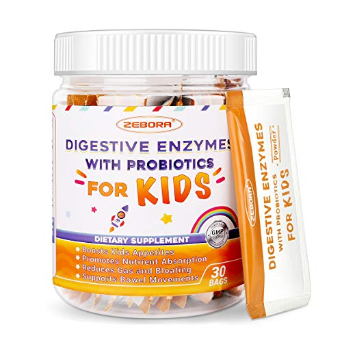 Digestive-Enzymes-for-Kids Plus Probiotics-and-Prebiotics Powder for Your Child's Body Promotes-Better-Digestion Constipation & Bloating Aid