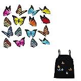 AOT Bügelbild Schmetterling für Kinder Handwerk DIY Dekorationen wasserfest Wärmeübertragung...